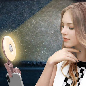2 in 1 Phone Camera Lens with Selfie Light Clip