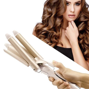 Triple Barrel Hair Curling 110-220V Iron Ceramic Hair Waver Styling Tools Wave Curlers