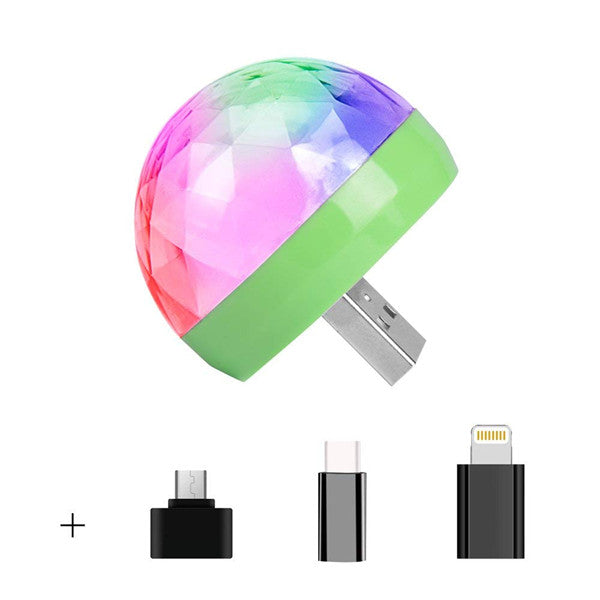 Mini USB Mashroom Strobe Light for Party & Ball Decoration