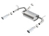 Borla 12-14 Jeep Wrangler JK 2Dr & 4Dr Rear Section ATAK Single Sqaure Rolled Angle-Cut Exit Exhaust