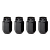 McGard Hex Lug Nut (Cone Seat) M14X1.5 / 22mm Hex / 1.635in. Length (4-Pack) - Black
