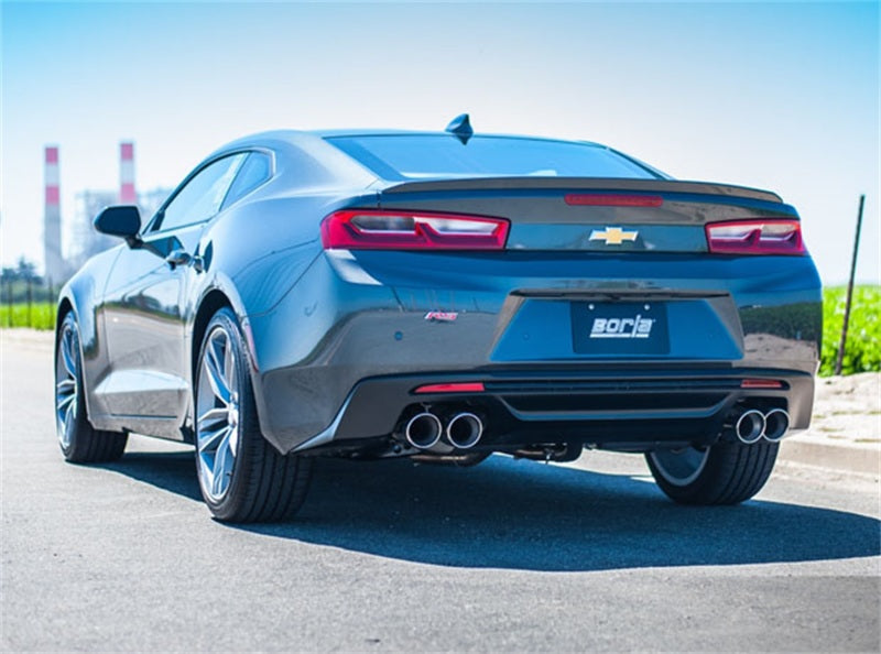 Borla 2016 Chevy Camaro V6 AT/MT ATAK Rear Section Exhaust w/o Dual Mode Valves