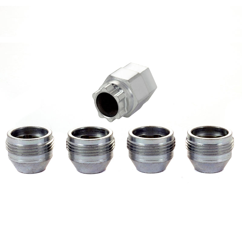 McGard Wheel Lock Nut Set - 4pk. (Under Hub Cap / Cone Seat) M12X1.5 / 19mm & 21mm Hex / .775in. L