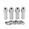 McGard Hex Lug Nut (X-Long Shank - 1.365in.) 1/2-20 / 13/16 Hex / 2.27in. Length (4-Pack) - Chrome
