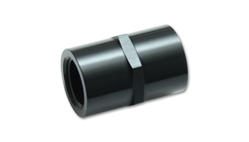Vibrant 1/8in NPT Female Pipe Coupler Fitting - Aluminum