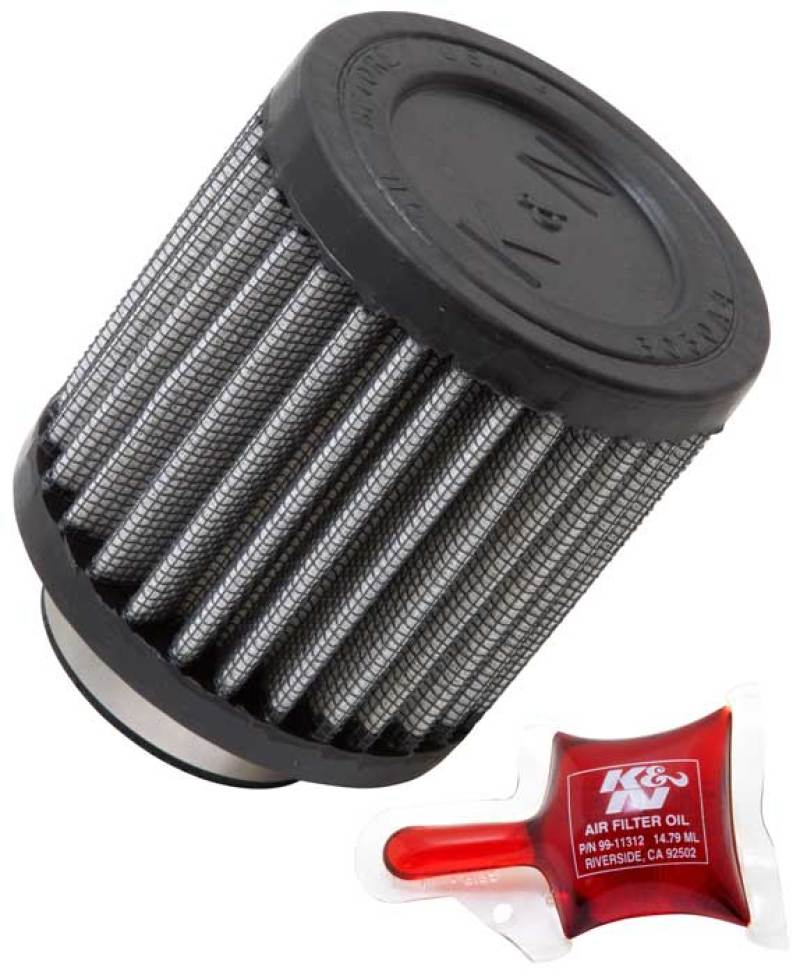 K&N Filter Universal Rubber Filter - Round Straight - 1.5in Flange ID x 3in OD x 3in Height