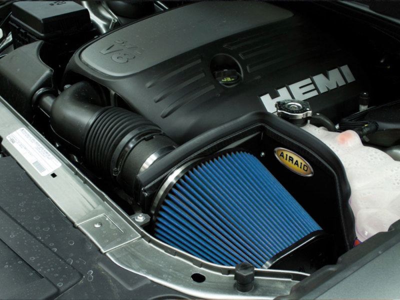Airaid 11-13 Dodge Charger/Challenger 3.6/5.7/6.4L CAD Intake System w/o Tube (Dry / Blue Media)