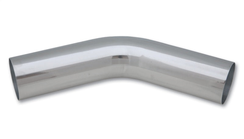 Vibrant 2.5in O.D. Universal Aluminum Tubing (45 degree bend) - Polished