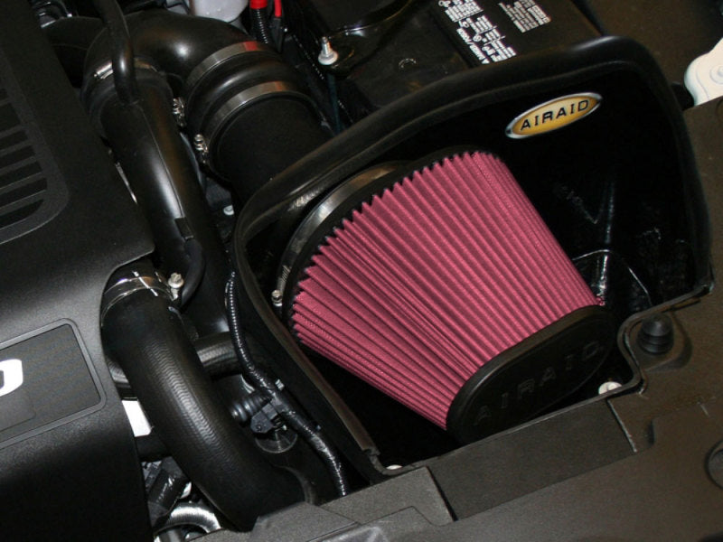 Airaid 10-13 Ford Taurus SHO/Flex 3.5L Turbo MXP Intake System w/ Tube (Oiled / Red Media)