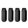 McGard Hex Lug Nut (Cone Seat) M14X2.0 / 13/16 Hex / 2.25in. Length (4-Pack) - Black