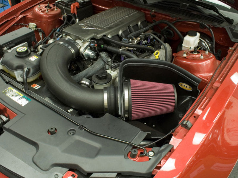 Airaid 2010 Ford Mustang GT 4.6L MXP Intake System w/ Tube (Oiled / Red Media)