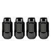 McGard Hex Lug Nut (Cone Seat Bulge Style) M14X1.5 / 22mm Hex / 1.945in. Length (4-Pack) - Black