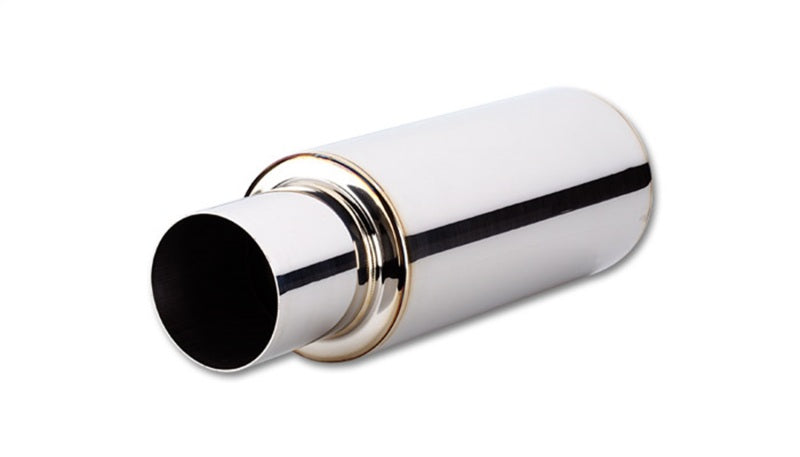 Vibrant TPV Round Muffler (23in Long) with 4in Round Tip Straight Cut - 4in inlet I.D.