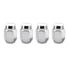 McGard Hex Lug Nut (Cone Seat) M12X1.25 / 13/16 Hex / 1.28in. Length (4-Pack) - Chrome