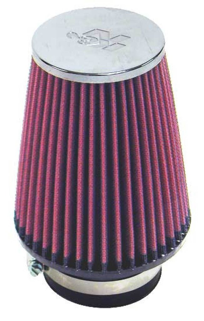 K&N Round Tapered Universal Air Filter 3in Flange ID x 5in Base OD x 3.5in Top OD x 6in H