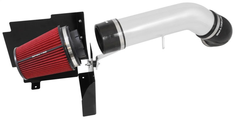 Spectre 99-07 GM Truck V8-4.8/5.3/6.0L F/I Air Intake Kit - Clear Anodized w/Red Filter