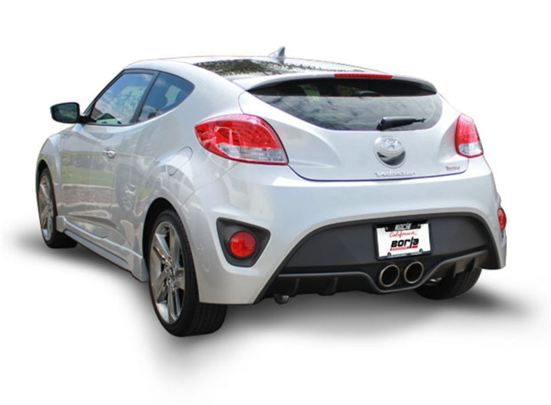 Borla 13-15 Hyundai Veloster Turbo 1.6L AT/MT FWD 2dr Dual Center Rear Exit Cat-Back Exhaust