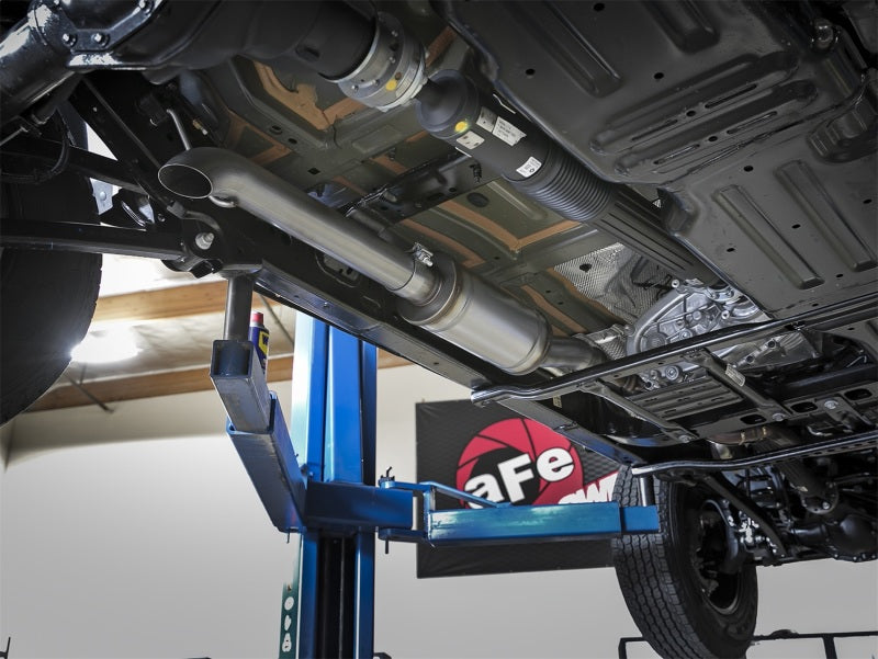 aFe Rock Duster 3in 409 SS Cat-Back Turn-Down Exhaust 2018+ Jeep Wrangler (JL) V6 3.6L