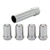 McGard Wheel Lock Nut Set - 4pk. (Tuner / Cone Seat) M12X1.25 / 13/16 Hex / 1.24in. Length - Chrome