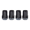 McGard SplineDrive Lug Nut (Cone Seat) M12X1.5 / 1.24in. Length (4-Pack) - Black (Req. Tool)