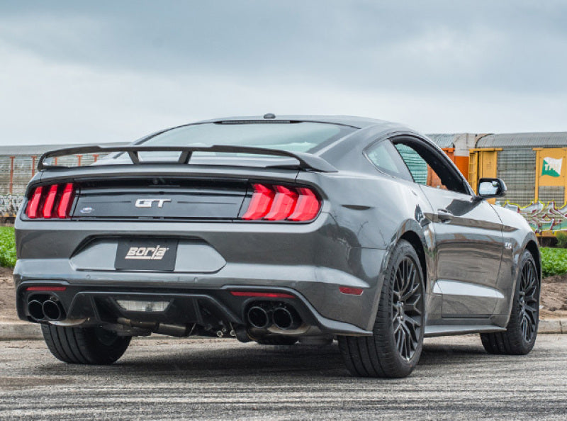 Borla 18-19 Ford Mustang GT 5.0L AT/MT 2.5in S-Type Axle Back Exhaust w/ Valves - Black Chrome Tips