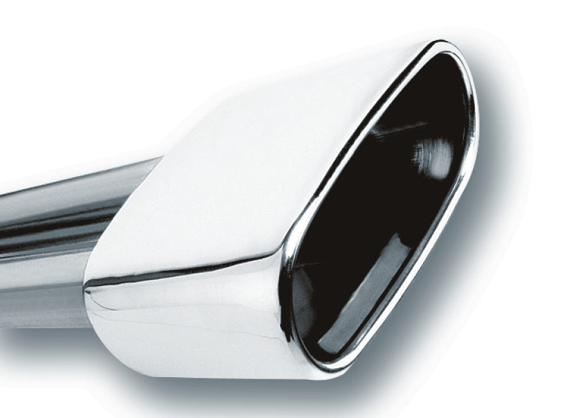 Borla 2.5in Inlet 6.69in x 3in Rectangular Rolled Angle Cut Single Inlet x 5.63in Long Exhaust Tip
