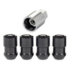 McGard Wheel Lock Nut Set - 4pk. (Cone Seat) M12X1.5 / 19mm & 21mm Dual Hex / 1.46in. Length - Black