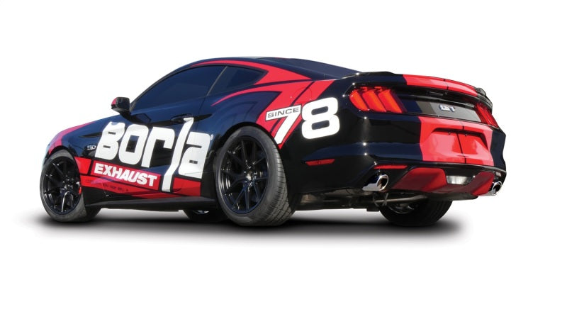 Borla Atak S Rear Section 15-17 Ford Mustang GT 5.0L V8 MT/AT 2.5in pipe 4in tip