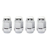 McGard Hex Lug Nut (Cone Seat Bulge Style) 1/2-20 / 3/4 Hex / 1.45in. Length (4-pack) - Chrome