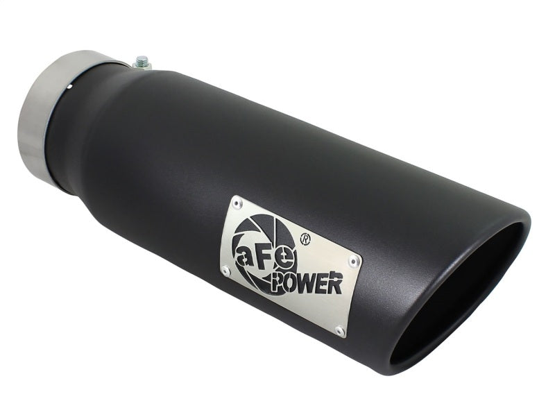 aFe Diesel Exhaust Tip Bolt On Black 4in Inlex x 5in Outlet x 15in