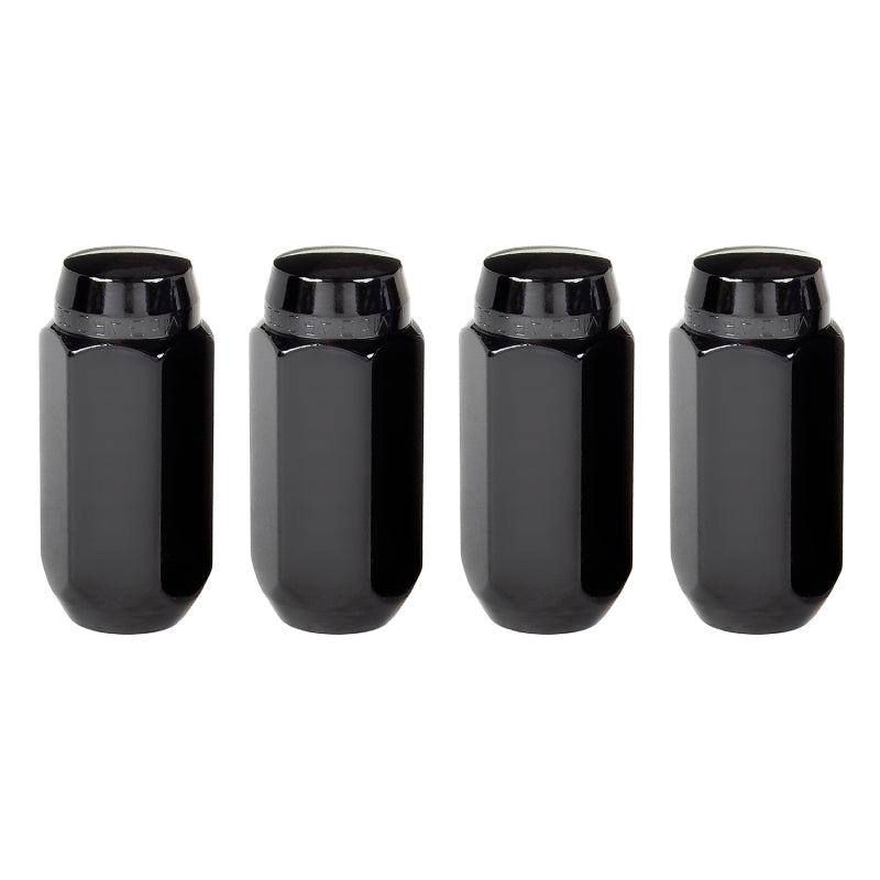 McGard Hex Lug Nut (Cone Seat) M14X1.5 / 13/16 Hex / 1.945in. Length (4-Pack) - Black