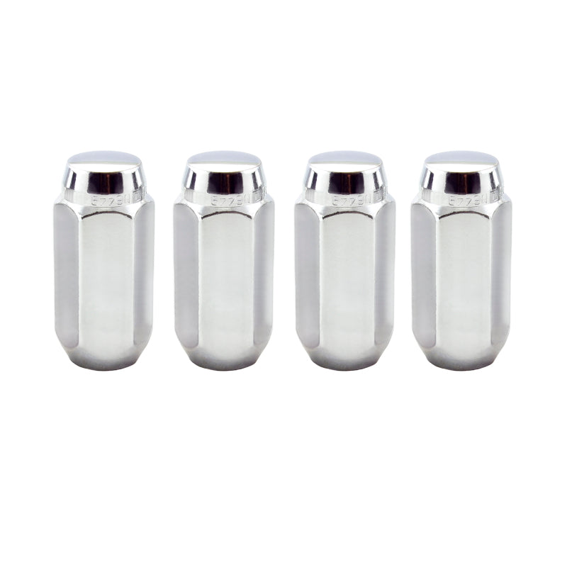 McGard Hex Lug Nut (Cone Seat) M14X1.5 / 22mm Hex / 1.945in. Length (4-Pack) - Chrome