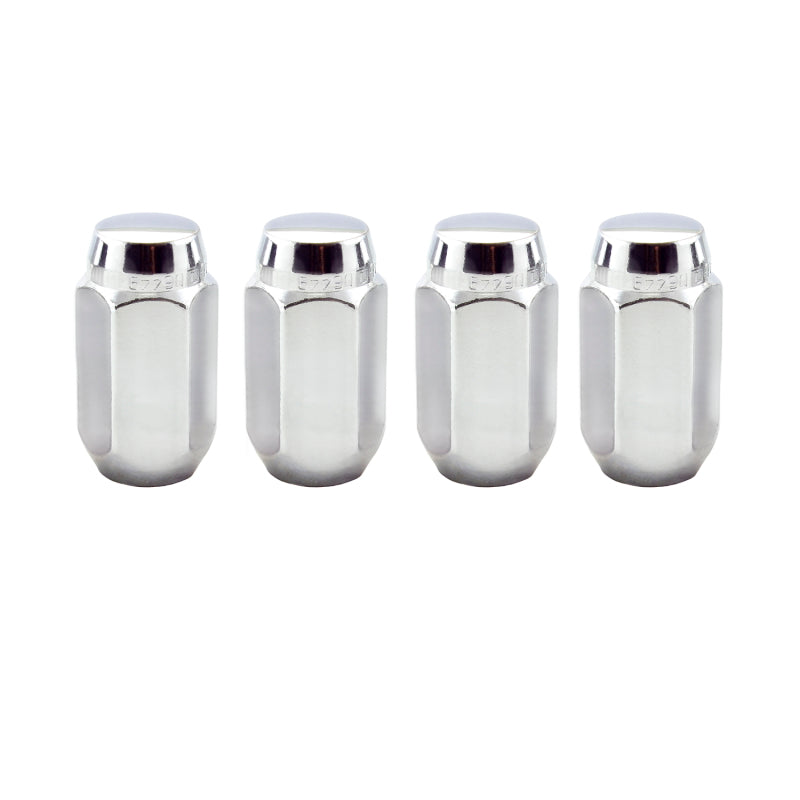 McGard Hex Lug Nut (Cone Seat) 9/16-18 / 7/8 Hex / 1.75in. Length (4-Pack) - Chrome