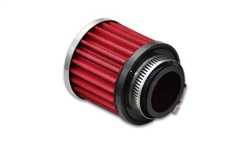 Vibrant Crankcase Breather Filter w/ Chrome Cap 1.5in 38mm Inlet ID