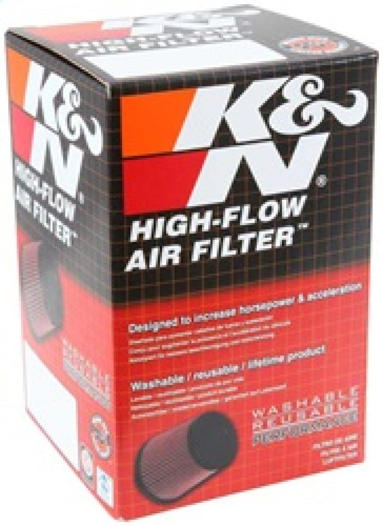 K&N Universal Chrome Filter 2 1/8in FLG / 4in x 3in Bottom / 2in Top / 2 3/4in Height (2 Per Box)