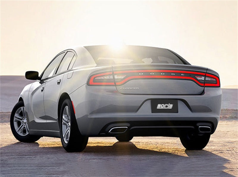 Borla 15-16 Dodge Charger 3.6L V6 S-Type Cat Back Exhaust (Uses Factory Valence)