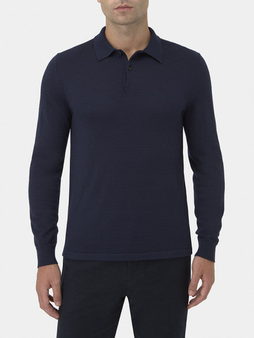 CASHMERE, MERINO AND SILK POLO