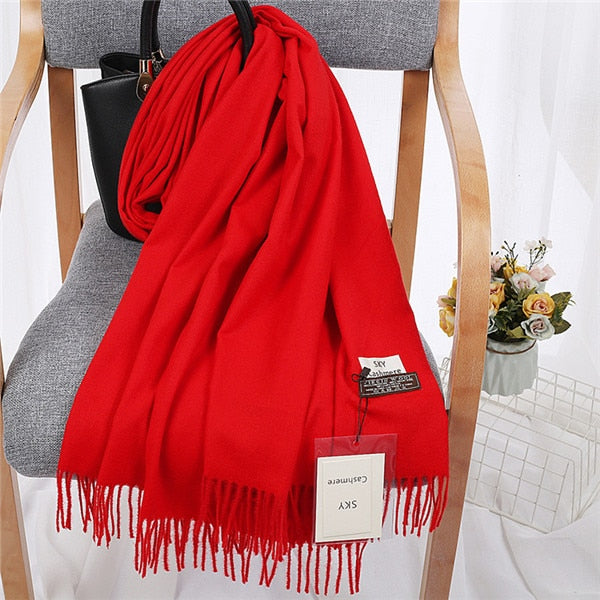 Male Wool Sky Cashmere Scarf
