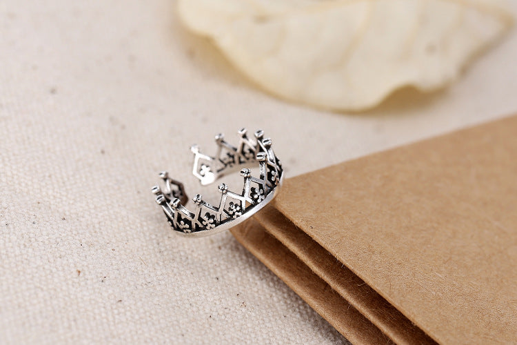 Sterling Silver Crown Ring