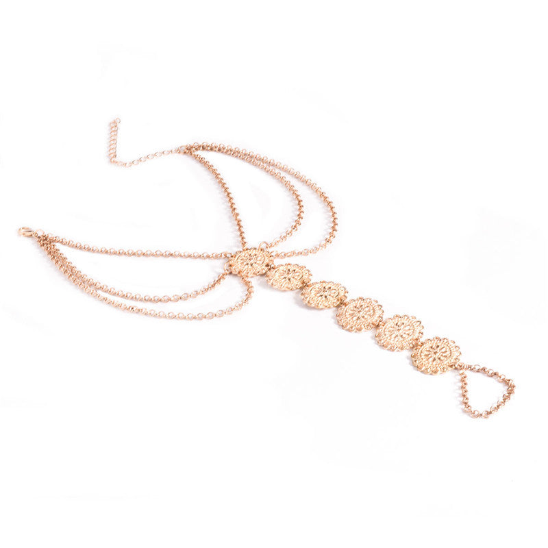 Circle Plated Foot Chain