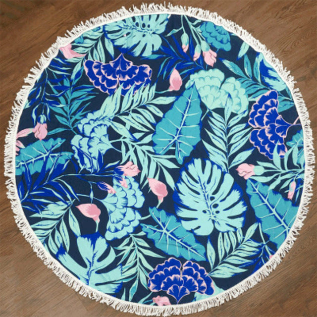 Floral Round Beach Towels
