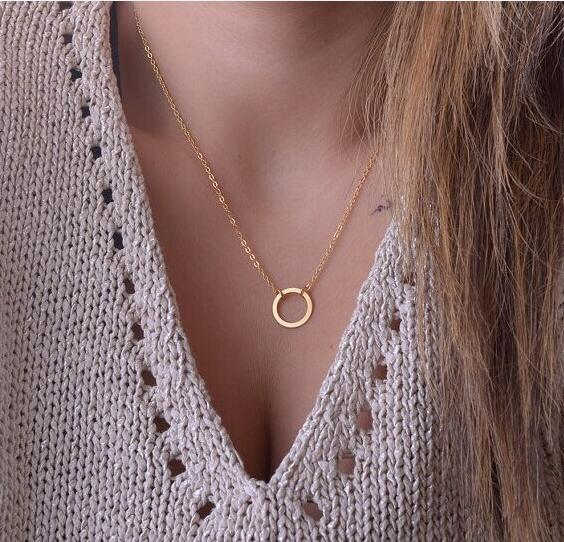 Gold Three Tier Shapes Necklace