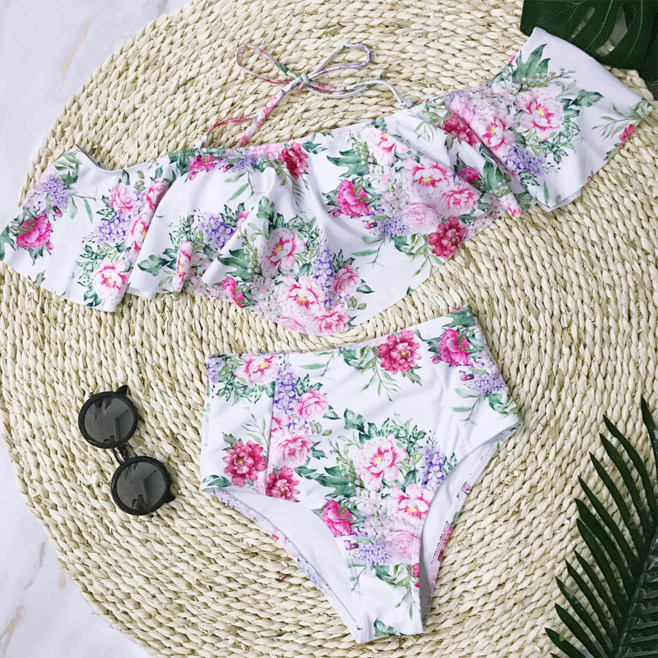 Gloria Florals Off Shoulder Bikini