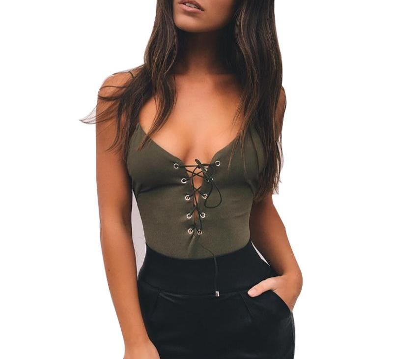 Gigi Lace Up Bodysuit