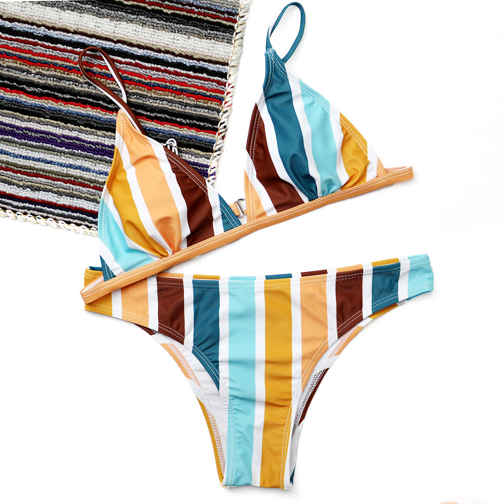 Abril Striped Bikini