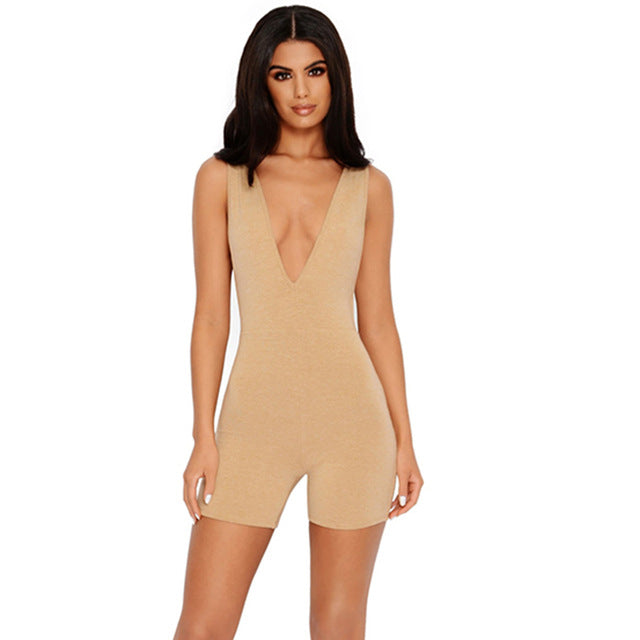 Plunge Fitted Romper
