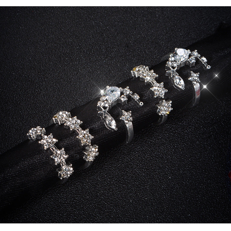 Glamour Five Piece Ring Set