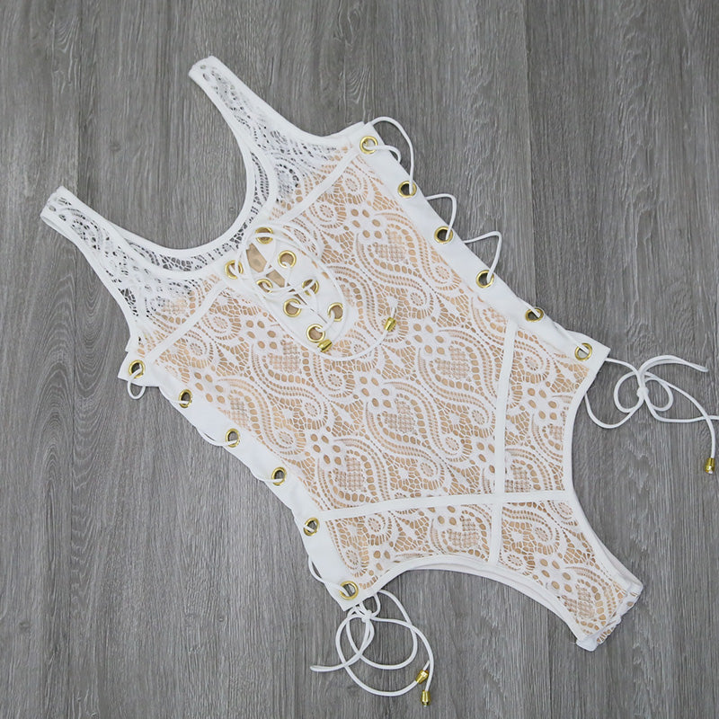 Nia Lace Up One Piece