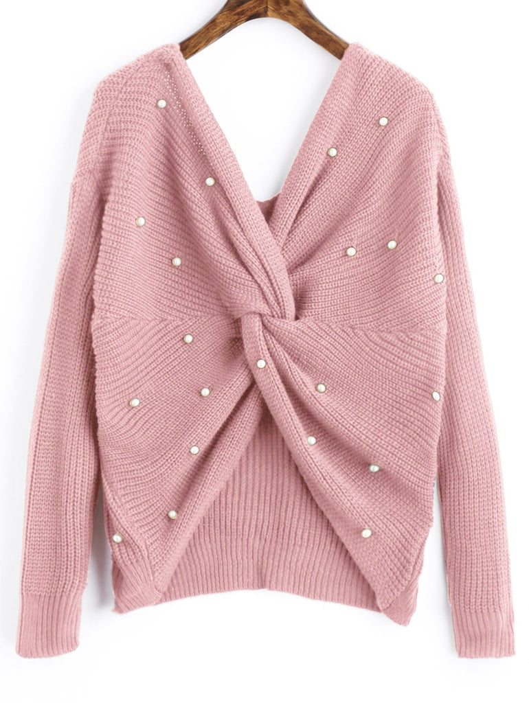 Twists & Pearls Sweater