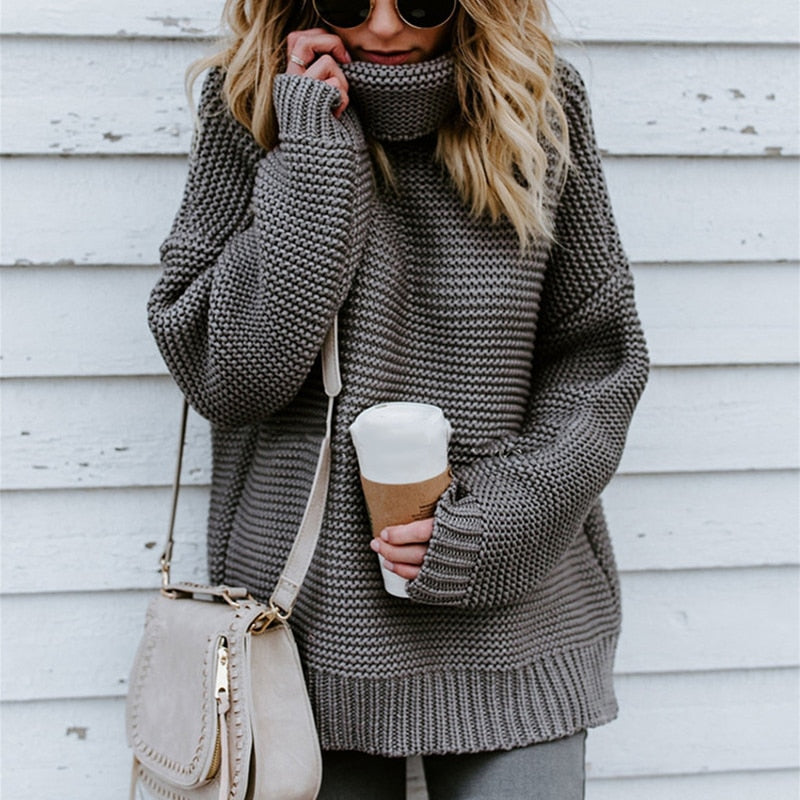 Oversized Turtle Neck Sweater